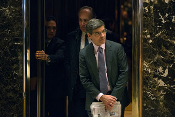 George Stephanopoulos President-Elect Donald Trump Holds Meetings At His Trump Tower Residence In New York