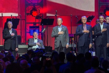 George W Bush Bill Clinton Ford Hosts Hurricane Harvey First Responders at One America Concert