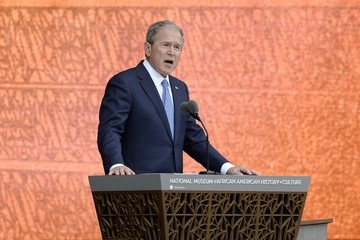 George W Bush The National Museum of African American History and Culture Opens in Washington, D.C.