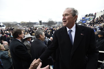 George W Bush Donald Trump Is Sworn In As 45th President Of The United States