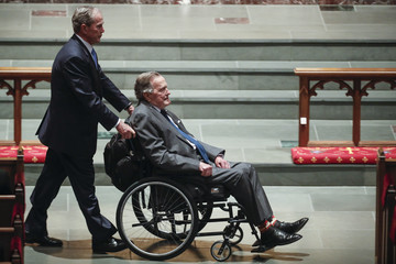 George W Bush Mourners, Including Former Presidents, Attend Funeral For Barbara Bush