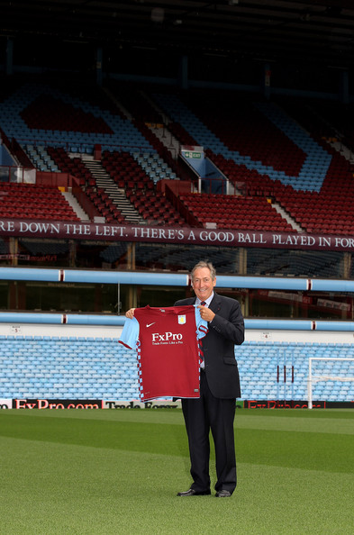 Gerard Houllier-New Aston Villa Manager Photocall and Press Conference [manager photocall,sport venue,stadium,arena,player,sports,soccer-specific stadium,team sport,grass,ball game,sports equipment,gerard houllier,manager,england,birmingham,villa park,aston villa,press conference]