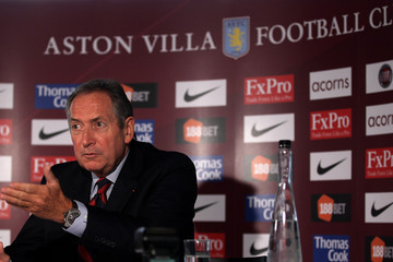 Gerard Houllier Gerard Houllier-New Aston Villa Manager Photocall and Press Conference
