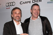 Actor Christoph Waltz and producer Christoph Fisser attend the German Films & Villa Aurora Academy Awards Nominees reception at Villa Aurora on March 6, 2010 in Pacific Palisades, California.