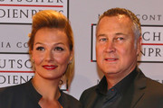 Franziska van Almsick and Juergen B. Harder attend the German Media Award on March 21, 2014 in Baden-Baden, Germany. The German Media Awards was created in 1992, to honor personalities for their achievement in politics or society.
