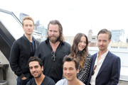 (Back L-R) Actors Alexander Fehling, Antoine Monot Jr., Hannah Herzsprung and Tom Schilling, (Front L-R) Actors  Elyas M'Barek and Florian David Fitz attend the German Talent Festival brunch during the 2014 Toronto International Film Festival at The Beverley Hotel on September 6, 2014 in Toronto, Canada.