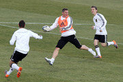 Player of Germany play rugby during a training session at Super stadium on June 21, 2010 in Pretoria, South Africa.