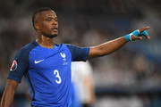 Patrice Evra of France signals during the UEFA EURO semi final match between Germany and France at Stade Velodrome on July 7, 2016 in Marseille, France.