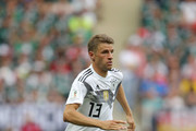 Thomas Mueller of Germany in action during the 2018 FIFA World Cup Russia group F match between Germany and Mexico at Luzhniki Stadium on June 17, 2018 in Moscow, Russia.