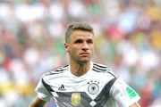 Thomas Mueller of Germany looks on during the 2018 FIFA World Cup Russia group F match between Germany and Mexico at Luzhniki Stadium on June 17, 2018 in Moscow, Russia.
