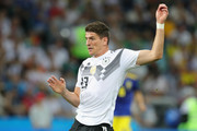 Mario Gomez of Germany runs  during the 2018 FIFA World Cup Russia group F match between Germany and Sweden at Fisht Stadium on June 23, 2018 in Sochi, Russia.