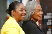 """Rachel Robinson and granddaughter Sonya Pankey attend the """"Get On Up"""" premiere at The Apollo Theater on July 21, 2014 in New York City."""