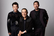 Actor Kai Zheng, director Zhang Yimou and Qianyuan Wang from the film 'Shadow' pose for a portrait during the 2018 Toronto International Film Festival at Intercontinental Hotel on September 10, 2018 in Toronto, Canada.