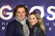 Michaela Schaffrath and Carlos Anthonyo attend the premiere of the musical 'Ghost - The Musical' at Stage Operettenhaus on October 28, 2018 in Hamburg, Germany.
