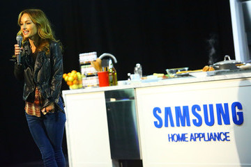 Giada De Laurentiis Samsung Home Appliances Cooks up at the New York Wine and Food Festival's Grand Tasting Stages
