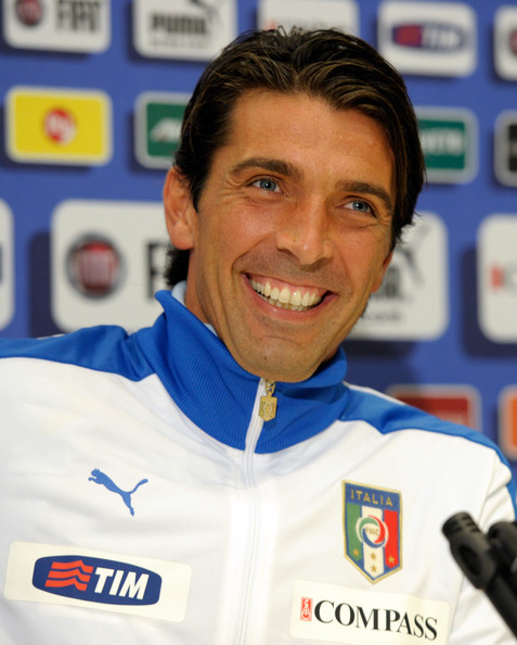 Gianluigi Buffon Gianluigi Buffon of Italy attends a Press Conference at Coverciano on October 4, 2011 in Florence, Italy.