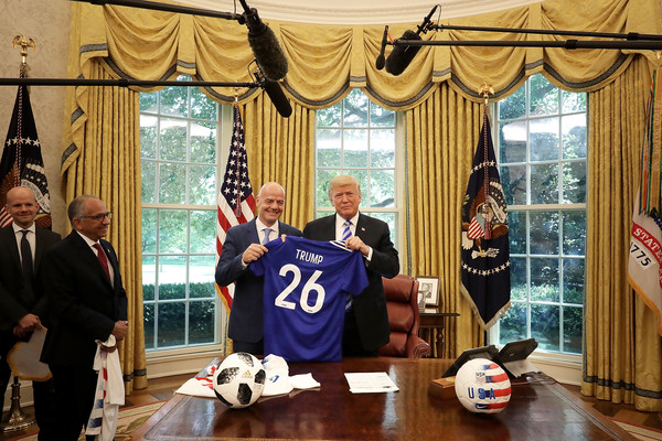 President Trump Meets With FIFA President Gianni Infantino At White House []