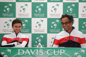 Gilles Simon Japan v France - Davis Cup by BNP Paribas First Round - Day 1