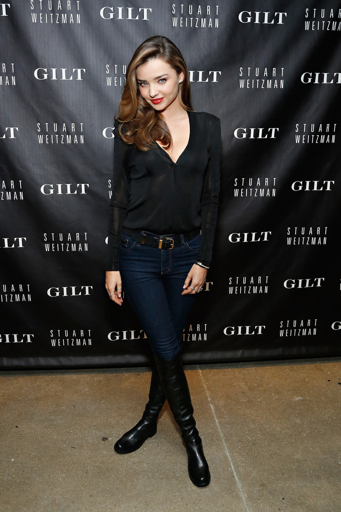 Gilt And Stuart Weitzman Celebrate The 5050 Boot 20th Anniversary