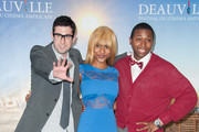 (LtoR) US director Adam Leon, US actress Tashiana Washington and US actor Ty Hickson pose at the 'Gimme The Loot' Photocall during the 38th Deauville American Film Festival on September 3, 2012 in Deauville, France.