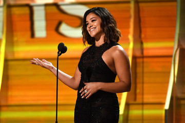 Gina Rodriguez The 59th GRAMMY Awards - Show