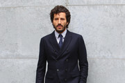 Francesco Scianna arrives at the Giorgio Armani show during the Milan Fashion Week Spring/Summer 2016 on September 28, 2015 in Milan, Italy.