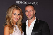 Laura Dundovic and Kris Smith arrive at the Giorgio Armani Beauty Counter Official Opening at MYER Sydney City on April 16, 2013 in Sydney, Australia.