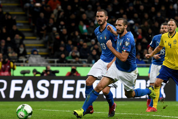 Giorgio Chiellini Italy v Sweden - FIFA 2018 World Cup Qualifier Play-Off: Second Leg