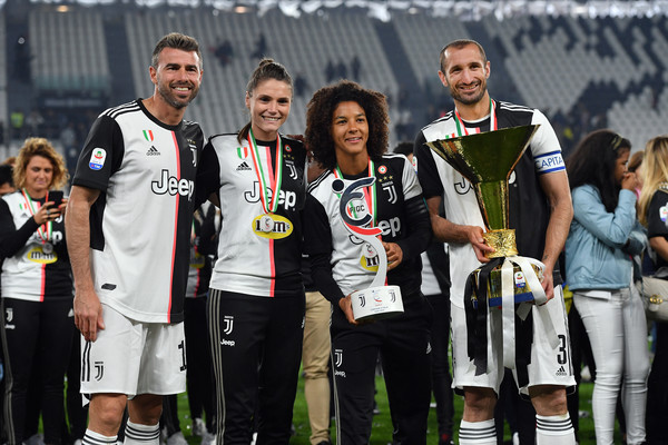 Juventus vs. Atalanta BC - Serie A [juventus,atalanta bc,team,championship,social group,player,competition event,team sport,tournament,sports,event,stadium,serie a,awards ceremony,serie a championship,cecilia salvai,andrea barzagli,juventus women,sara gama,giorgio chiellini]
