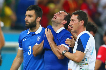 Giorgos Tzavellas Costa Rica v Greece: Round of 16 - 2014 FIFA World Cup Brazil