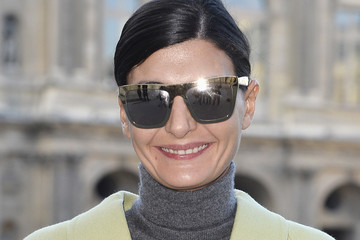 Giovanna Battaglia Arrivals at the Louis Vuitton Show
