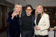 (L-R) Laura Brown, Giovanni Morelli, and Susan Duffy attend the Opening of Beverly Hills Boutique with a private VIP dinner hosted by Giovanni Morelli, Stuart Weitzman Creative Director, and Laura Brown, InStyle Editor-In-Chief at The Sunset Tower Hotel on January 19, 2018 in Los Angeles, California.
