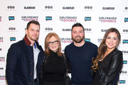 """(L-R) Albie Manzo, Caroline Manzo, Chris Manzo and Lauren Manzo attend the """"Girlfriend's Guide To Divorce"""" New York Series Premiere at Crosby Street Hotel on November 20, 2014 in New York City."""