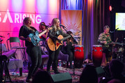 Cathy Henderson, Melissa Etheridge, Nini Camps, Carnie Wilson and Kristen Henderson perform onstage during Girls Rising Panel & Performance at GRAMMY Museum on October 22, 2019 in Los Angeles, California.