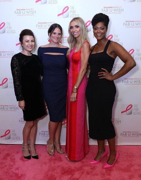 The Pink Agenda's Annual Gala [dress,red carpet,clothing,carpet,red,pink,event,cocktail dress,shoulder,fashion,jaquelyn m. scharnick,giuliana rancic,liana m. douillet guzman,marisa renee lee,pink agenda,l-r,new york city,tribeca rooftop,the pink agenda,gala]
