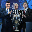 Giuliano Pisapia The UEFA Champions League Trophy Is Displayed In Milan