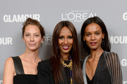 Christy Turlington Burns, Iman and Liya Kebede attend Glamour's 23rd annual Women of the Year awards on November 11, 2013 in New York City.