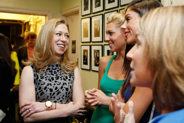 Mary Anne Huntsman Glamour Hosts Women In Politics Panel With Chelsea Clinton