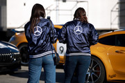 Guests attends the Glamour and Mercedes-Benz AMG Driving Academy Experience at Laguna Seca at WeatherTech Raceway Laguna Seca on October 03, 2019 in Salinas, California.