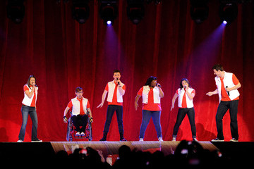 Chris Colfer Cory Monteith Glee Live! In Concert! At The Mandalay Bay Events Center