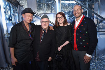 Glenda Bailey Marc Metrick Glenda Bailey And Katie Holmes Host The Launch Of The Saks IT List Townhouse In Partnership With American Express And Harper's BAZAAR