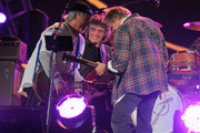 "Neil Young and Frank ""Poncho"" Sampedro Photos Photo"