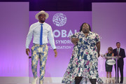 Denver Broncos Linebacker Von Miller walks the runway with DeOndra Dixon at the Global Down Syndrome 10th anniversary BBBY fashion show at Sheraton Denver Downtown Hotel on October 20, 2018 in Denver, Colorado.
