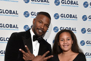 Jamie Foxx and Analise Foxx on the red carpet at the Global Down Syndrome 10th anniversary BBBY fashion show at Sheraton Denver Downtown Hotel on October 20, 2018 in Denver, Colorado.