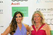 Maria Bravo and Angeles Muñoz attends the Global Gift Gala 2013 red carpet at Gran Melia Don pepe Resort on August 4, 2013 in Marbella, Spain.