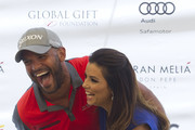 Amaury Nolasco and Eva Longoria attend the Global Gift Celebrity Golf Tournament to help raise money for The Eva Longoria Foundation and The Bertin Osborne Foundation at La Quinta Golf & Country Club on July 19, 2014 in Marbella, Spain.