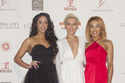 (L-R) Alexandra Buggs, Courtney Rumbold and Karis Anderson from british music band Stooshe attends the Global Gift Gala photocall at Madrid Townhall on April 2, 2016 in Madrid, Spain.