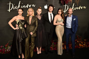 "Ella Hunt, Jane Krakowski, Anna Baryshnikov, Alena Smith, Adrian Blake Enscoe, Hailee Steinfeld and Toby Huss attend Apple's Global Premiere for ""Dickinson"" on October 17, 2019 in Brooklyn, New York. ""Dickinson"" debuts on Apple TV+, the first all-original video subscription service, on November 1."