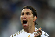 Sergio Ramos of Real Madrid celebrates after scoring from the penalty spot for his teams victory in the Supercopa de Espana Final match between Real Madrid and Club Atletico de Madrid at King Abdullah Sports City on January 12, 2020 in Jeddah, Saudi Arabia.