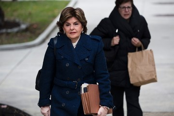 Gloria Allred Comedian Bill Cosby Attends a Pretrial Conference at the Montgomery County Courthouse
